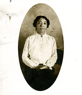 Mabel Williams, student photo, Class of 1917, Frederick Douglass Memorial Hospital and Training School Student File